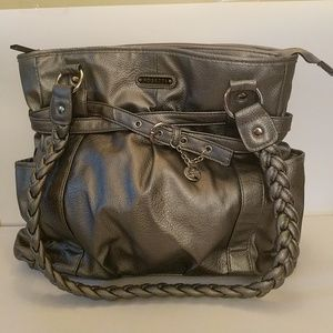 Silver leather large purse